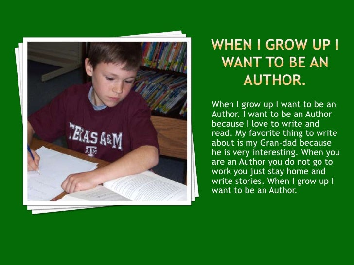 Essay what i want to become when i grow up