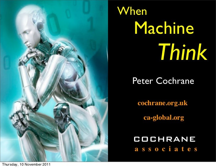 When                               Machine                                     Think                               Peter C...