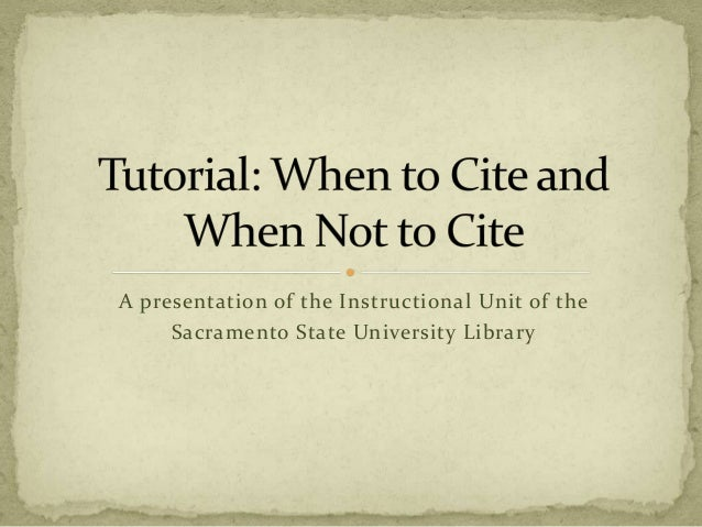 A presentation of the Instructional Unit of the Sacramento State University Library