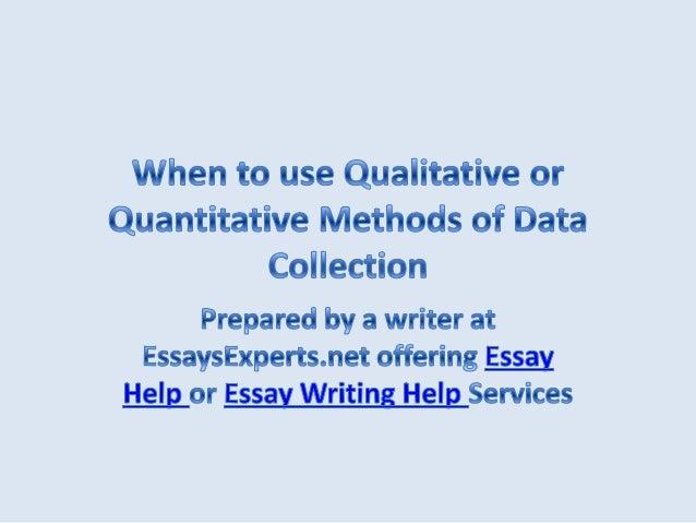 Dissertation quantitative methodology