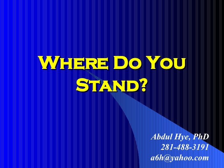 Where do you Stand on Abraham
