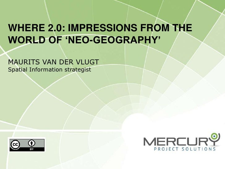 Where2 0 & neogeography (spatial@gov)