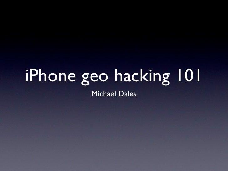 WhereCamp EU talk: iPhone location 101