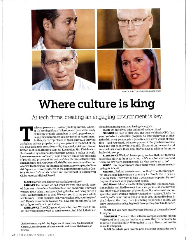 For Tech Firms, Culture is King