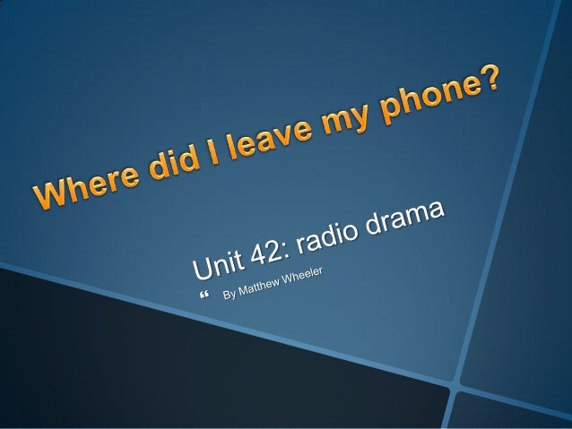 Starts with Simon talking to Barry at Barry's house. Simon has just said goodbye when he realises he's losthis phone. Barr...