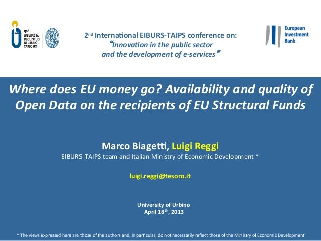 Where does EU money go? Availability and quality of Open Data on the recipients of EU Structural Funds