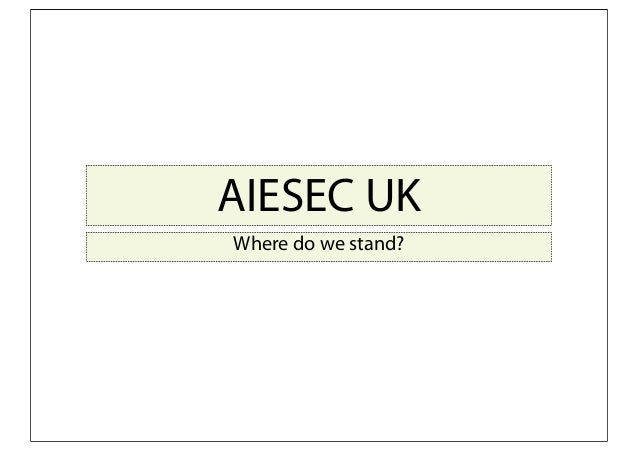 AIESEC UK Where do we stand?