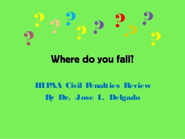 Where do you fall?HIPAA Civil Penalties ReviewBy Dr. Jose I. Delgado???? ? ??? ??