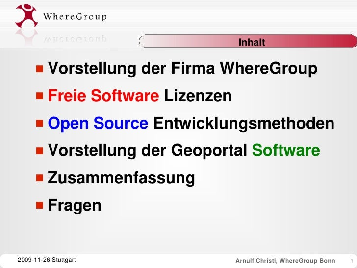 WhereGroup Firmenprofil