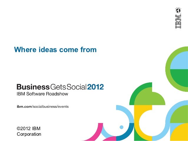 Where ideas come from©2012 IBMCorporation