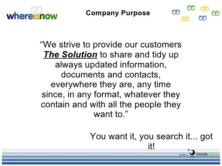 WhereIsNow Business Plan