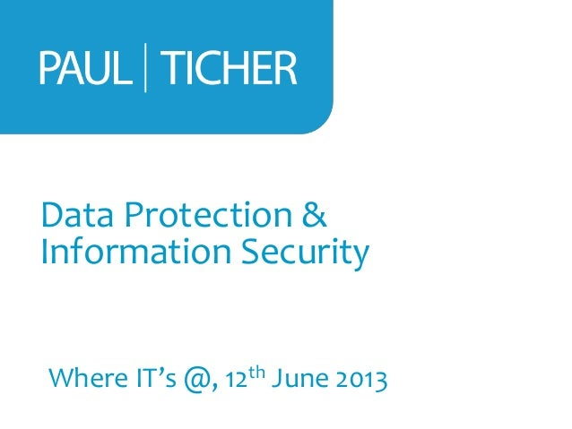 Data Protection & Information Security