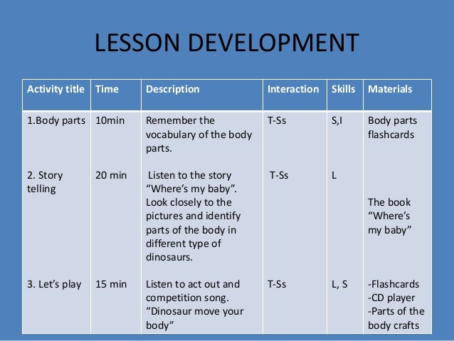 Where's my baby lesson plan
