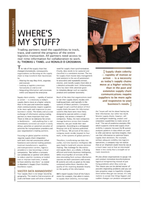Where's my stuff -logistic insight asia october 2012