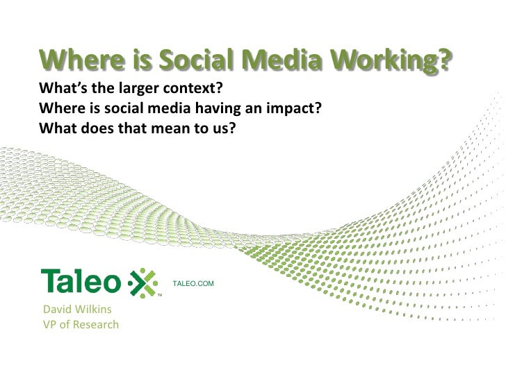 Where social media is working