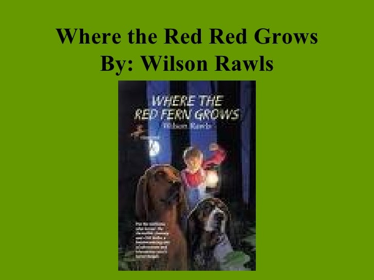 a review on where the red fern grows by wilson rawls Summer of the monkeys, wilson rawls johnny tremain, esther forbes the witch of blackbird pond red feet would keep jogging along, on and on, mile after mile.