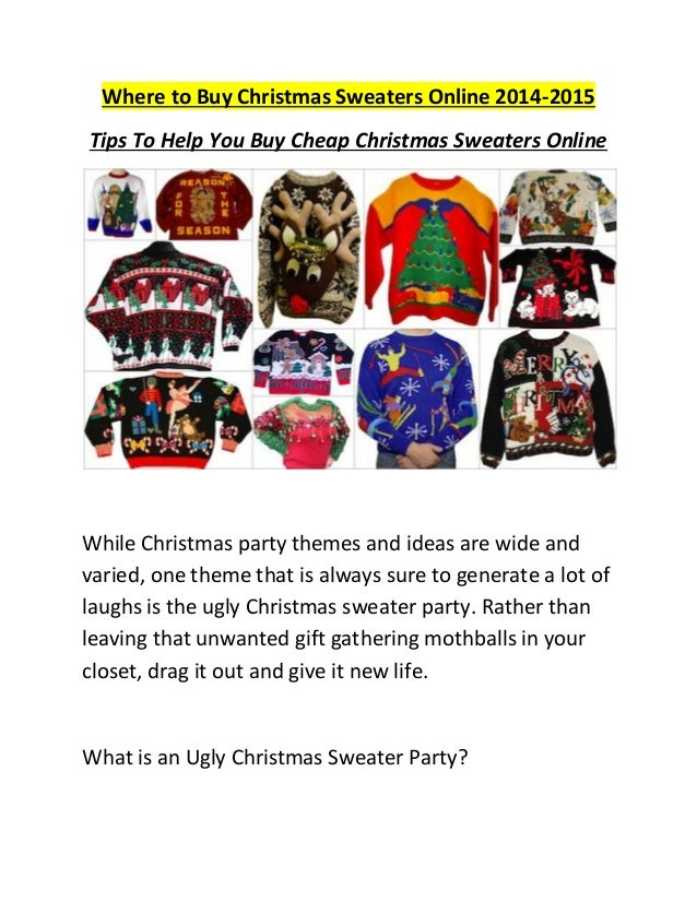 Where to buy christmas sweaters online