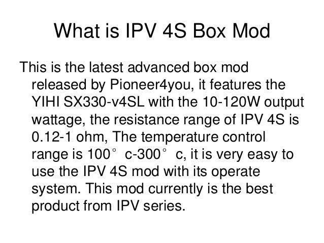 Pioneer4u Бокс Мод ipv 4 1 W, купить - Babylon Vapeshop