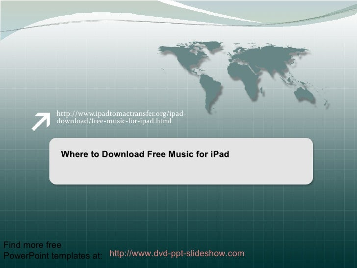 Where to download free music for i pad