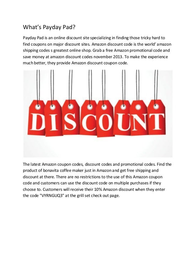 What's Payday Pad? Payday Pad is an online discount site specializing in finding those tricky hard to find coupons on majo...