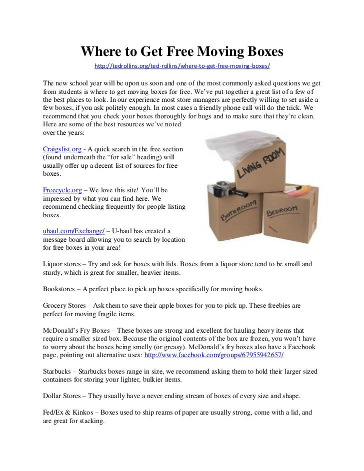 Where to Get Free Moving Boxes                  http://tedrollins.org/ted-rollins/where-to-get-free-moving-boxes/The new s...
