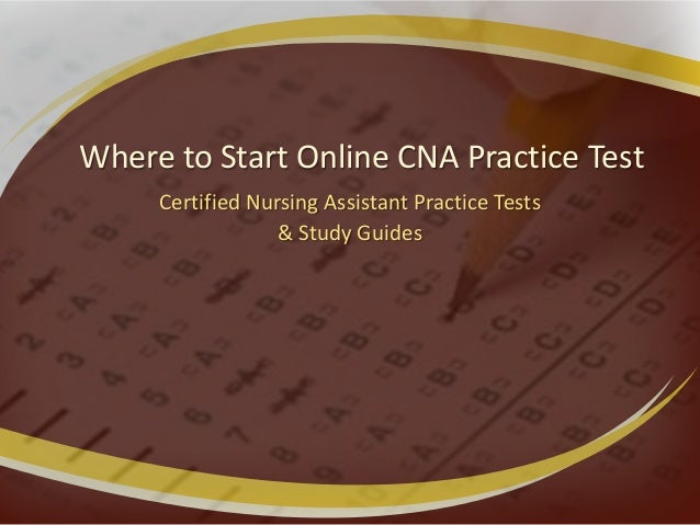 Where to Start Online CNA Practice Test