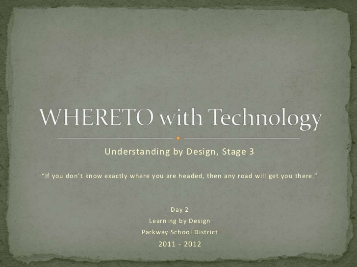 Whereto with technology day2