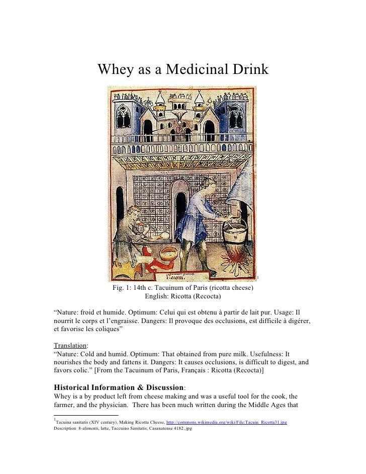 Whey as a medicinal drink (3504) 01.18.12