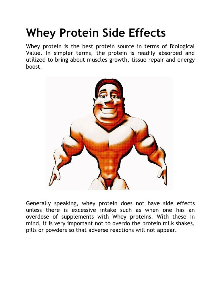 Whey protein side effects