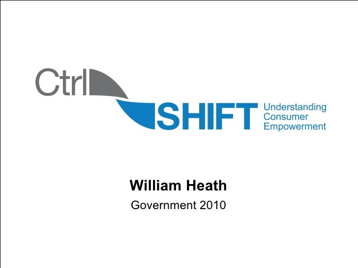 Sub title William Heath Government 2010