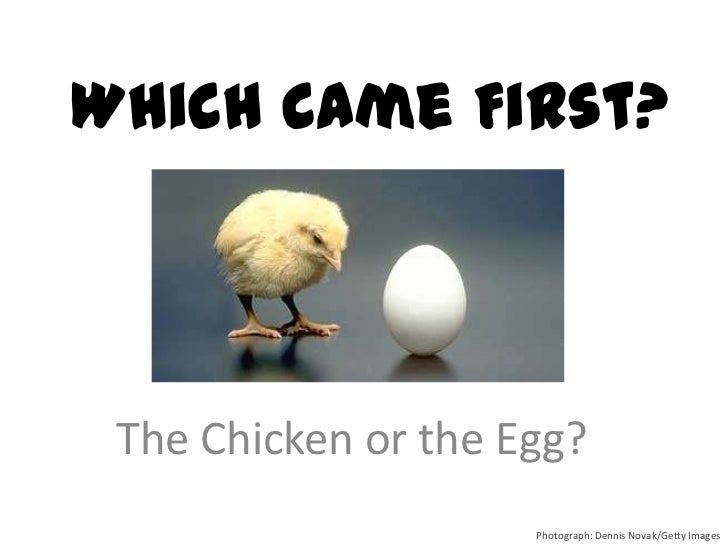 Which Came First? The Chicken or the Egg?                     Photograph: Dennis Novak/Getty Images