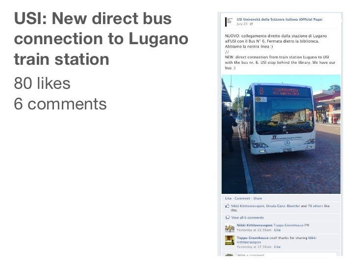 USI: New direct busconnection to Luganotrain station80 likes6 comments