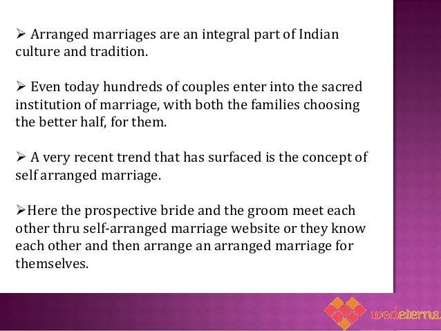 Arranged Marriage Essay