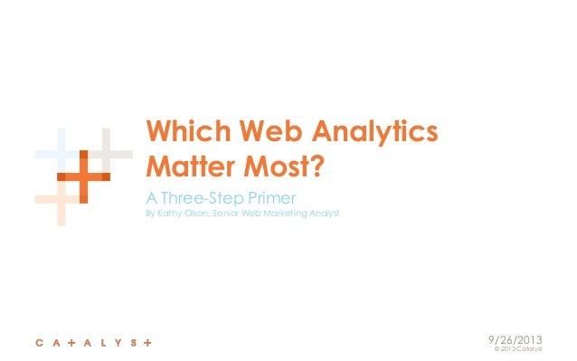 Which web analytics matter most? A 3-step primer