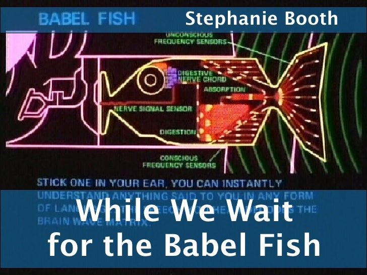 While We Wait for the Babel Fish Stephanie Booth