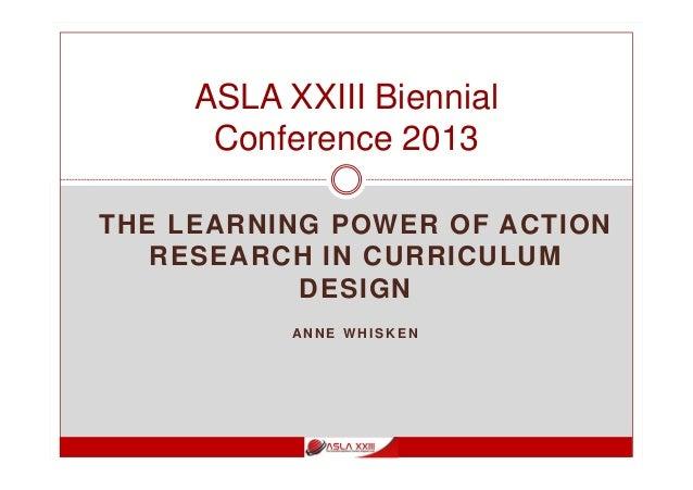 Action research in curriculum design