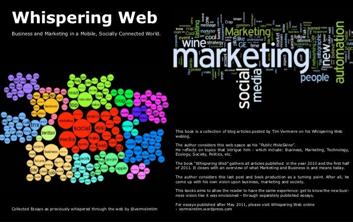 Whispering WebBusiness and Marketing in a Mobile, Socially Connected World.                                               ...
