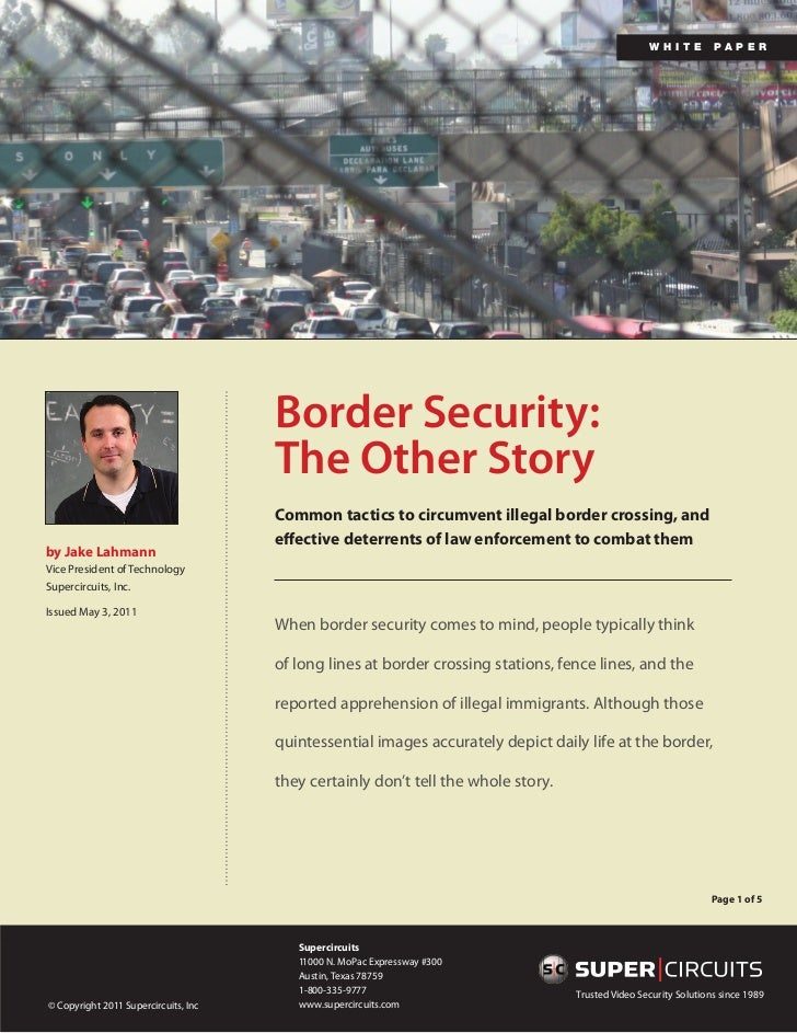 White Paper: Border Security: The Other Story
