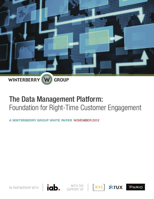 The Data Management Platform:Foundation for Right-Time Customer EngagementA WINTERBERRY GROUP WHITE PAPER NOVEMBER 2012   ...