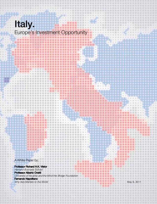 Italy - Europe's Investment Opportunity (5 Sept .2011)