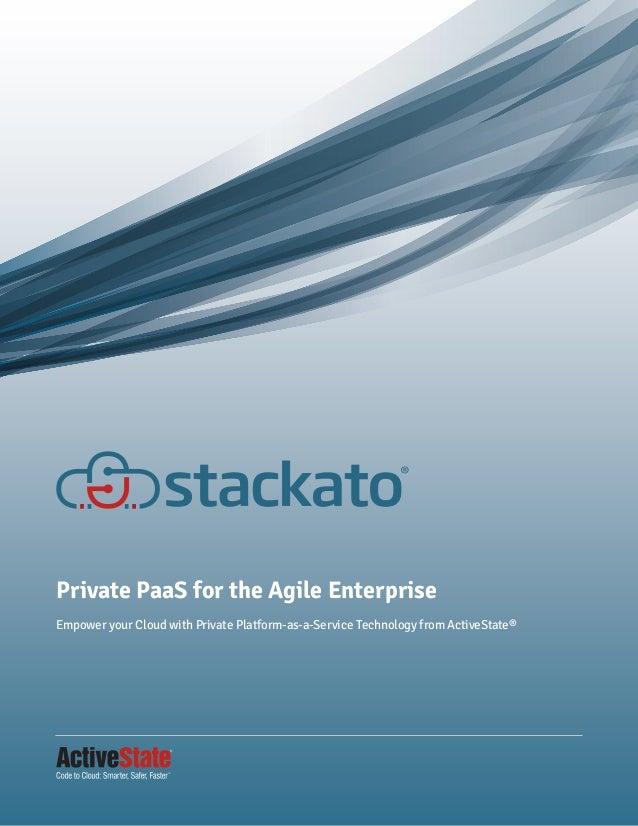 Stackato Private PaaS for the Agile Enterprise