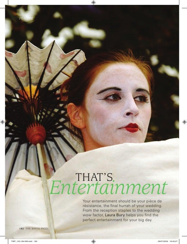 FeaTure                             ThaT's                       Entertainment                          Your entertainment...