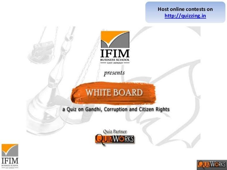 Whiteboard - Corruption Quiz