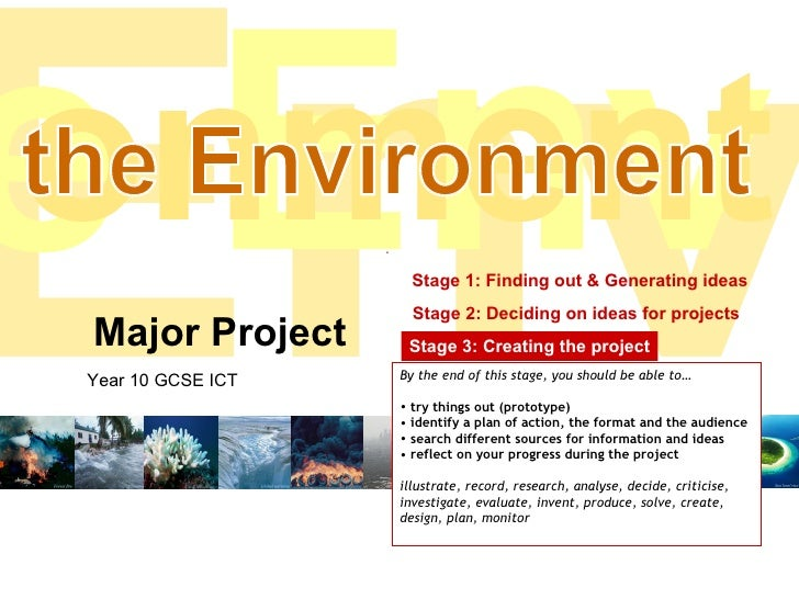 Stage 3 - Creating your project