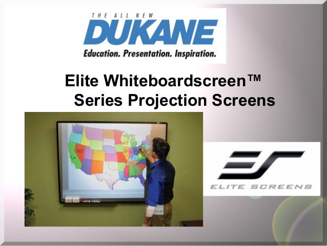 Elite Whiteboardscreen™ Series Projection Screens