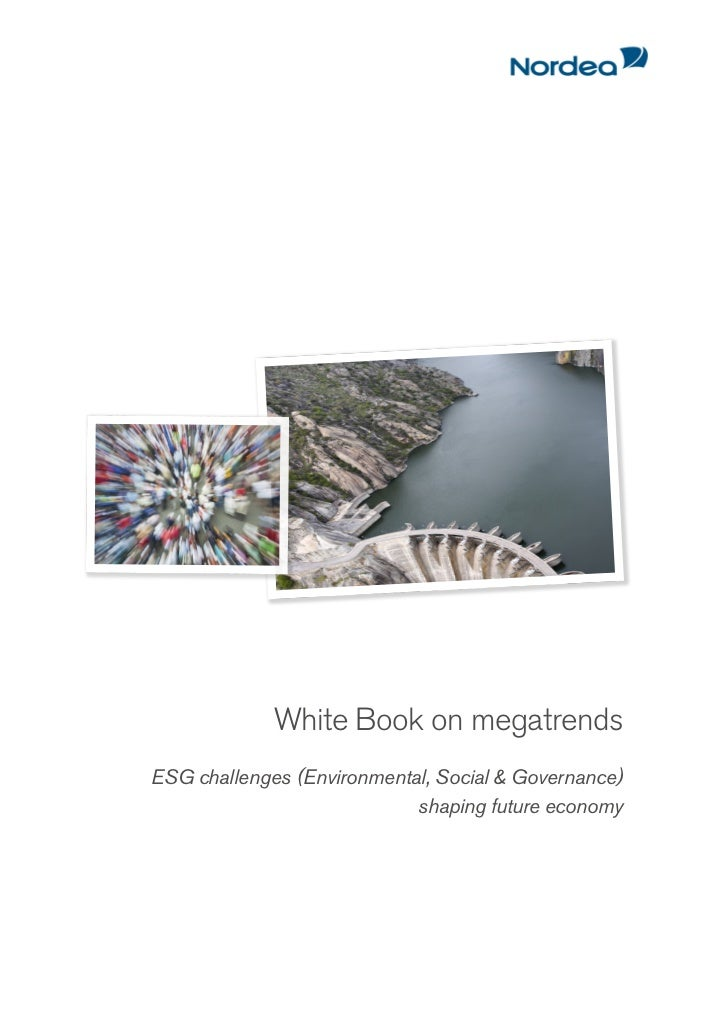 White Book on megatrendsESG challenges (Environmental, Social & Governance)                            shaping future econ...
