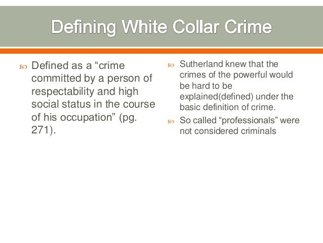 White collar crime :: essays research papers - 123HelpMe