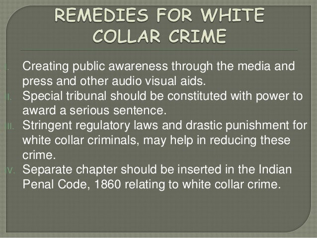 """an analysis of white collar crime A model of white collar crime that leant itself somewhat more to empirical data analysis was herbert edelhertz's 1970 definition: """"an illegal act or series of illegal acts committed by nonphysical means and."""
