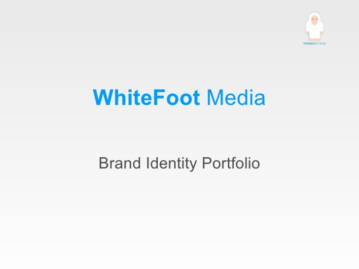 WhiteFoot  Media Brand Identity Portfolio