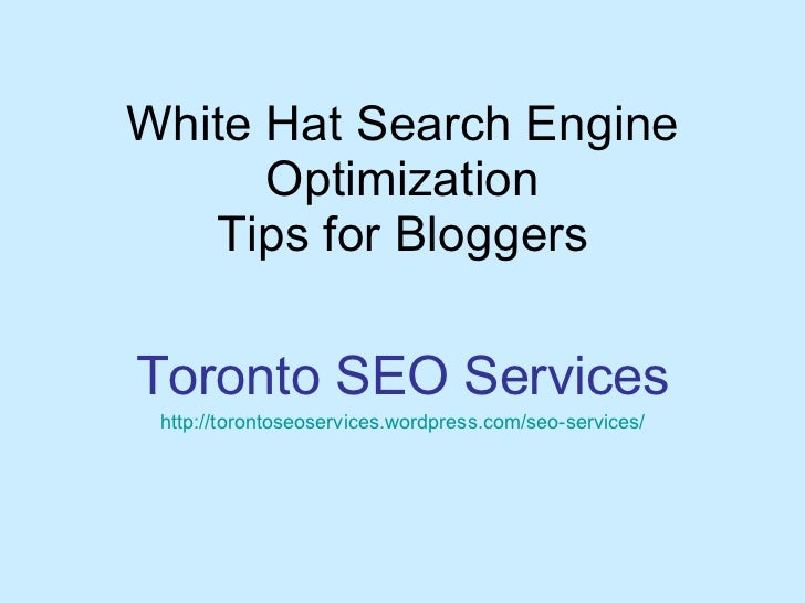 WhiteHat SEO for Blog Owner